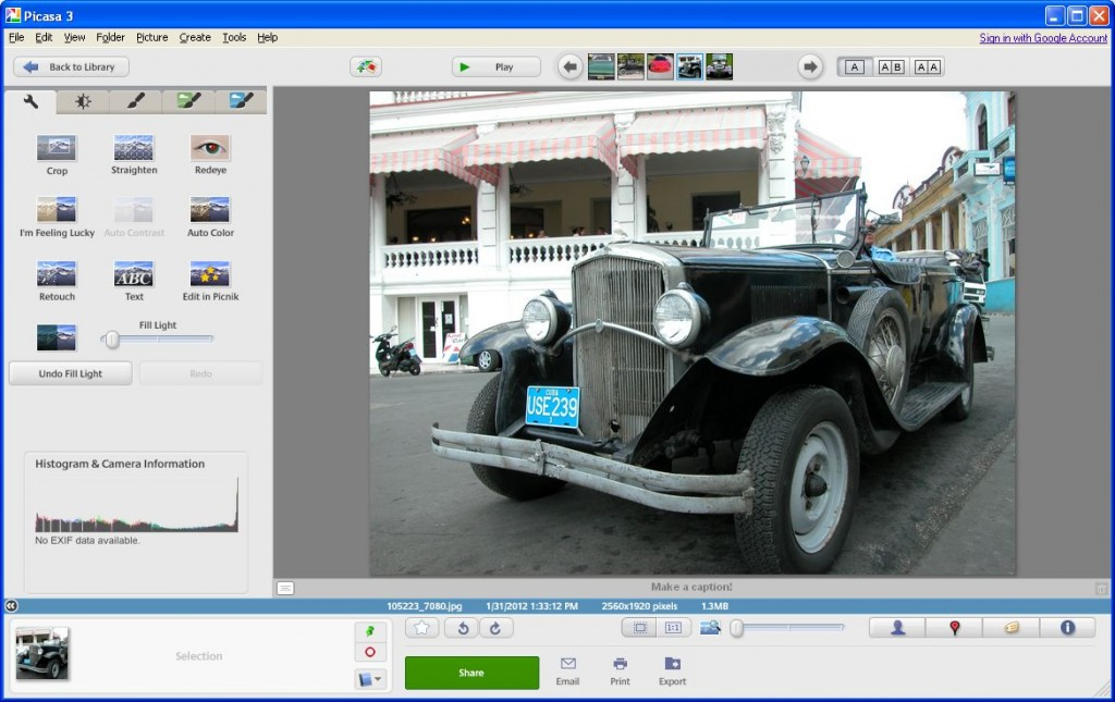Basic Fixes in Picasa - Auto Contrast, Crop, Colors and much more
